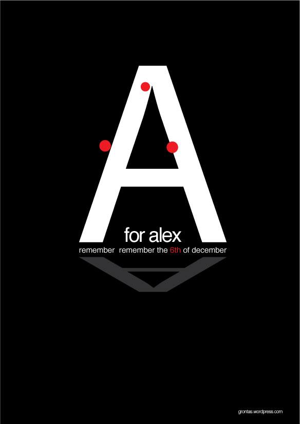 alexis grigoropoulos poster design by Aggelos grontas graphic designer thessaloniki greece