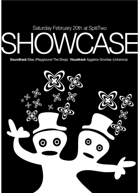 Showcase event poster design. By aggelos grontas graphic designer thessaloniki greece