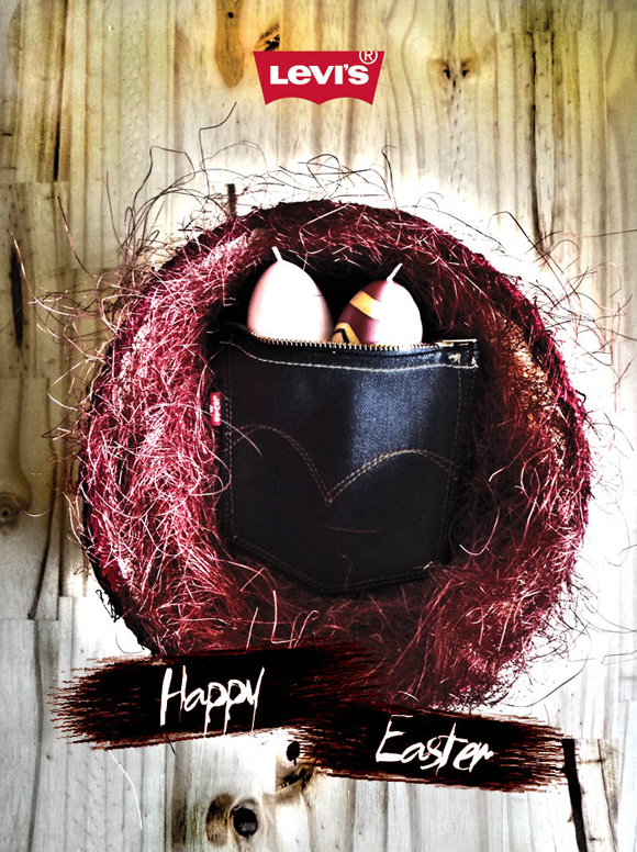 easter card for levi's Hellas. Designed and crafted by graphic designer aggelos grontas
