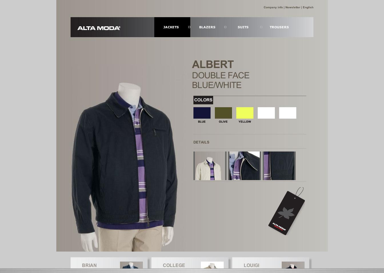 Altamoda outdoor web design