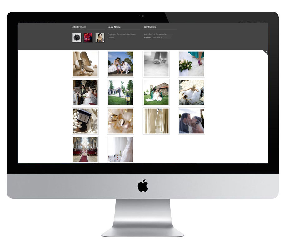 Photographer web design by Aggelos Grontas